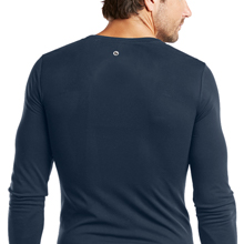 Close-up of the back detail of Barco One 0305 Men's Seamless Scrub Tee