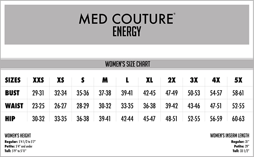 Med Couture Energy Women's Polyester Spandex