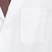 "Close-up of chest pocket on Barco Uniforms 9599 Men's 37"" Lab Coat"