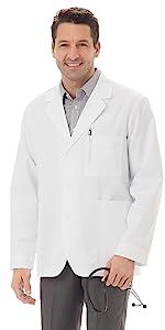 "White Swan Meta 6119 Unisex Lab Coat 30"" Medical Healthcare Uniforms Fashion"