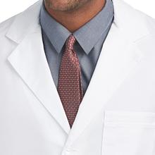 """Notched lapel shown on Barco Uniforms 9599 Men's 37"""" Lab Coat"""