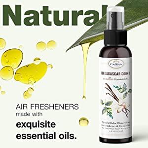 natural organic vegan essential oil spray air freshener