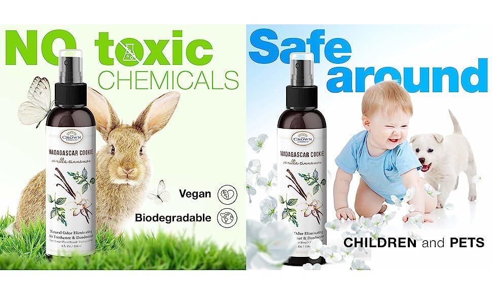 vanilla cinnamon natural non toxic air freshener spray essential oil spray
