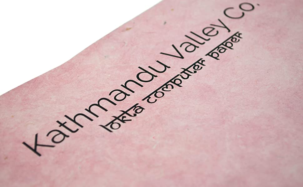 Pink Natural Lokta Paper for Computer Printing Crafts and Writing