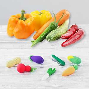 vegetable shape erasers