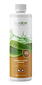 Curaloe Pure Aloe Vera Juice Digestive Support Organic Drink Stomach Condition Laxative Soothing