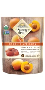 sunny fruit organic dried apricots