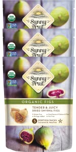 sunny fruit organic dried figs 3-pack