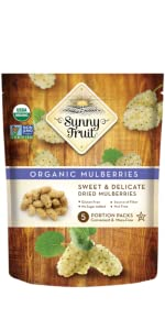 sunny fruit organic dried white mulberries