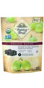 sunny fruit organic raisins