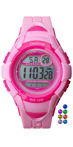 pink kids girls digital watch age 5-12