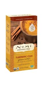 numi  organic tea turmeric chai golden latte powder mix milk mylk adaptogen coconut