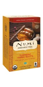 three roots turmeric tea bags rose ginger licorice energy focus