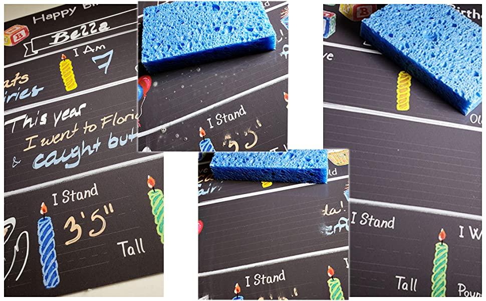 Milestone Board Chalkboard Birthday Chalk Memory Photo Prop Event Blackboard Grow Clean Stain Water