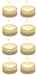 Warm White tealights with remote