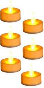 Amber votive candles