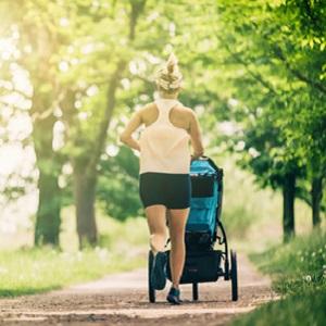 Mother running