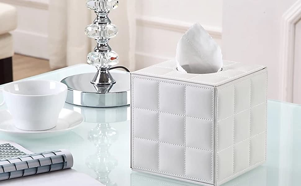 UnionBasic Square Roll Tissue & Napkin Holder Box Cover Pumping for Home Office Car Automotive