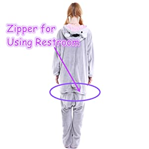 with zipper