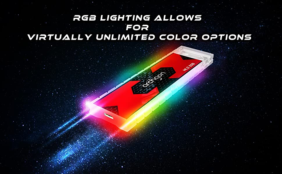 rgb lighting allows for virtually unlimited color options