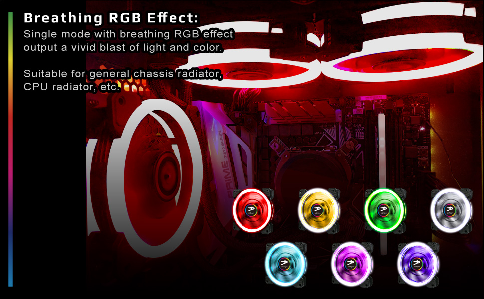 breathing rgb effect single mide with breathing rgb effect output a vivid blast of light and color