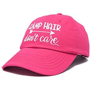H-201-Camp-Hair Dad Cap 100% Cotton