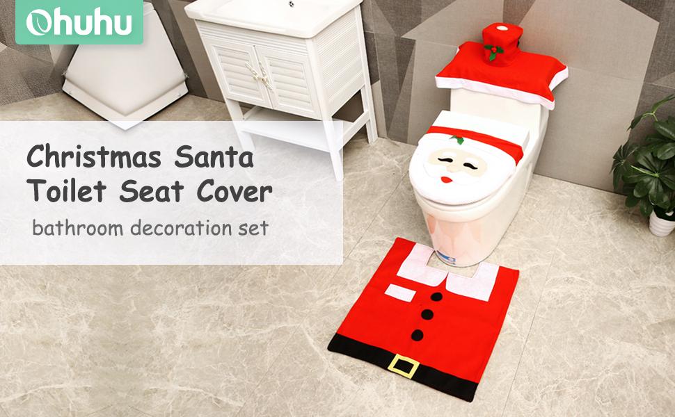 ohuhu christmas toilet seat cover