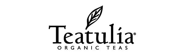 Teatulia Organic Tea black logo