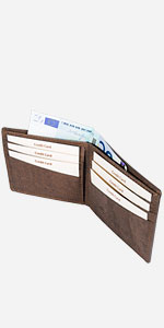 bifold cork wallet