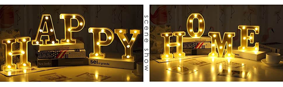 led 26 letter marquee night lights