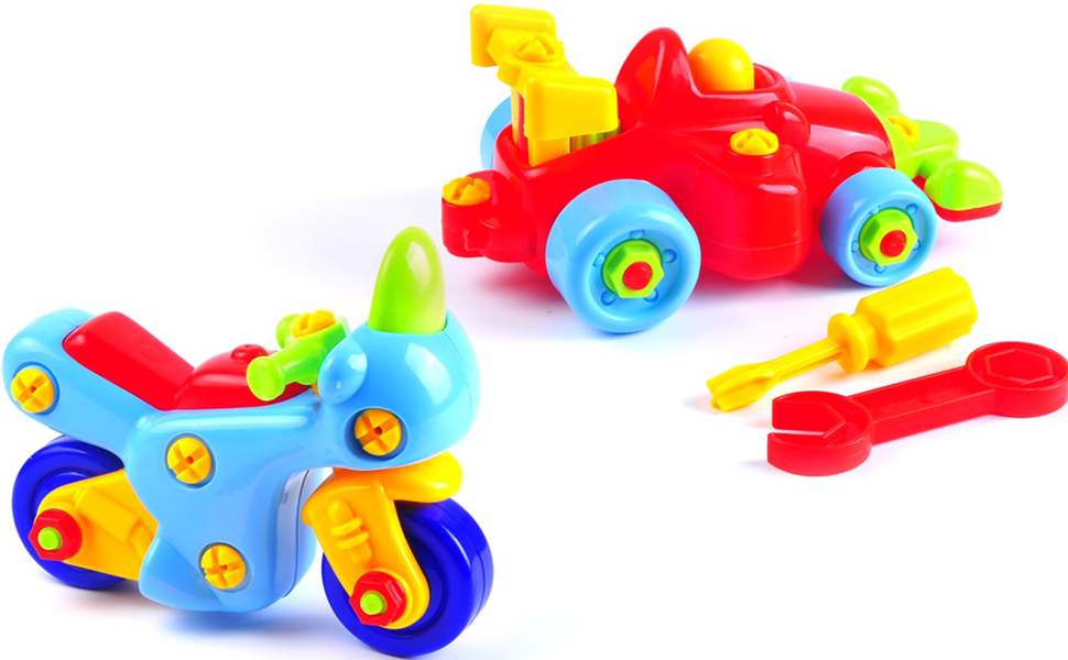 Take Apart Toy Cars for Would-be-Mechanics