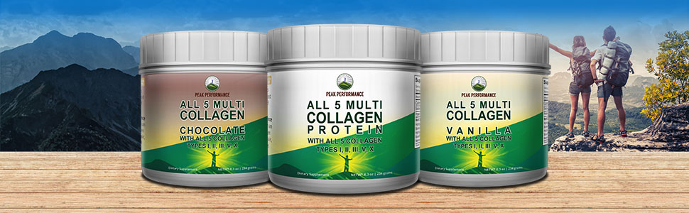 Chocolate vanilla Multi-Collagen proteins powders collagens Multi collagen bone broth protein powder