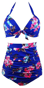 Retro High Waist Carnival Swimsuit
