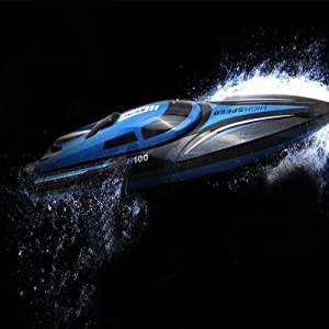 SkyCo H100 Rc Boat High Speed Remote Control Racing Toy Kids Boys Girls Pool Lake Extra Battery