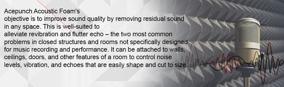 improve sound quality remove reverb vibrations echoes echo insulation foam