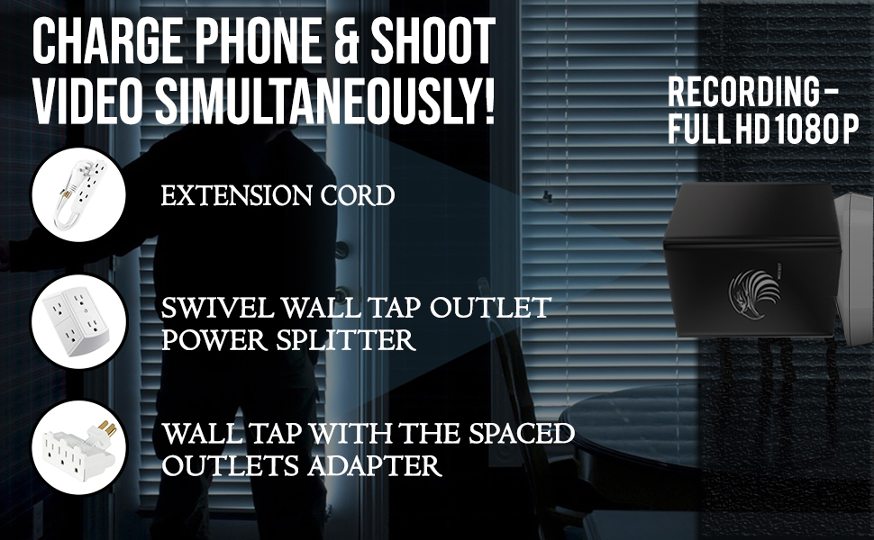 Charge your phone & record videos simultaneously.