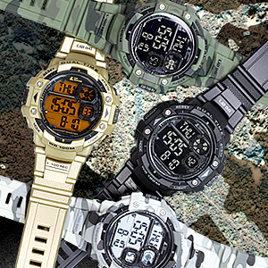 Powerful Dual Time Military Watch