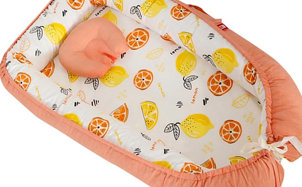 living coral crib bedding orange Baby Lounger Portable Baby Nest Bed Newborn Infants Bassinet
