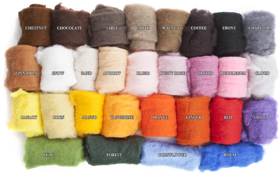 DHG New Zealand Maori Carded Wool Batt for Needle Felting
