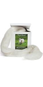 Corriedale wool roving core