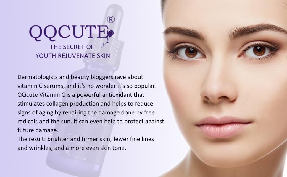 QQcute vitamin c serum is the secret of youth rejuvenate skin