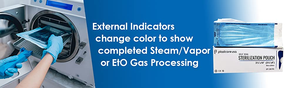 external indicator change color eto gas processing