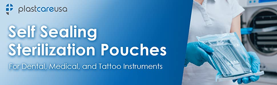 self sealing sterilization pouches dental medical tattoo instruments