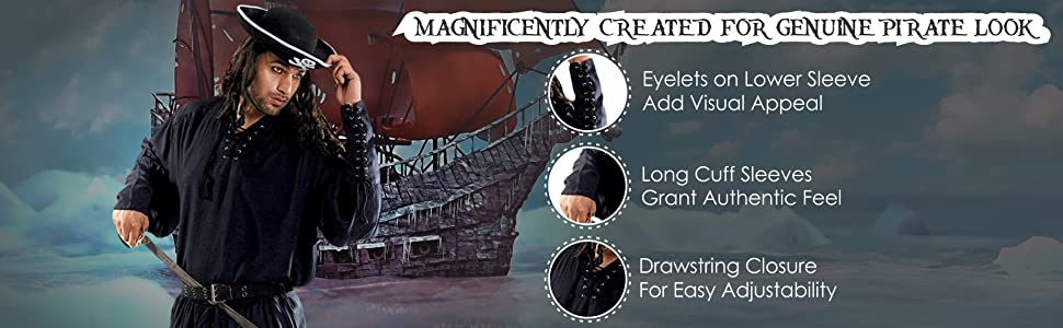 Created for Genuine Pirate look