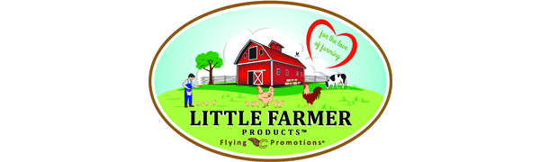 Little Farmer Products Logo Flying C Promotions backyard chicken supplies treats feed natural nongmo