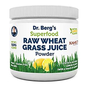 dr berg raw lemon wheat grass juice powder superfood