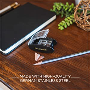 """Sharp pencil & Blackwing Long Point Pencil Sharpener """"Made with high quality German stainless steel"""""""