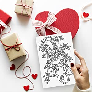 coloring valentine cards