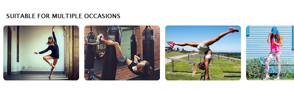 Matymats Women's Yoga Tank Top Built in Shelf Bra Sleeveless Running Workout T-Shirt Dry Fit