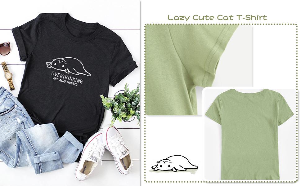 LAZY CUTE CAT T-SHIRT